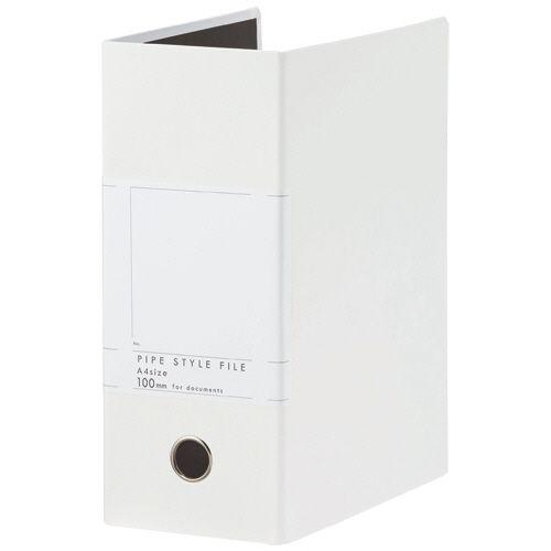 1000枚収容 1セット(10冊) A4タテ 【送料無料】【法人(会社・企業)様限定】両開きパイプ式ファイルSt 背幅127mm ホワイト