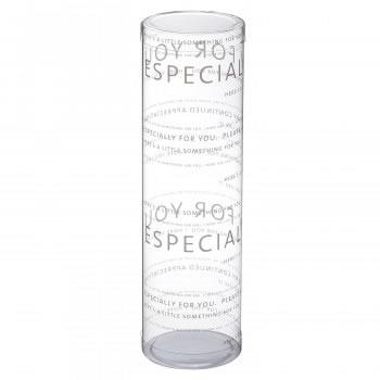 迅速な対応で商品をお届け致します 送料無料 梱包資材 ラッピング用品 直送商品 クリアケース PVC円筒デザイン 生活雑貨館 MP6-20 ブラン 100個セット 240620