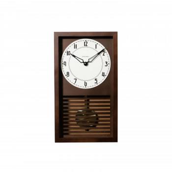 【送料無料】CHAMBRE LATTICE PENDULUM CLOCK 掛け時計 DARK BROWN CH-058DB【生活雑貨館】