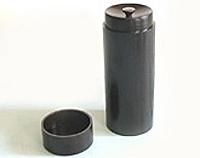 【キャッシュレス5%還元】スリム茶筒 (黒)【返品・交換・キャンセル不可】【逸品館】