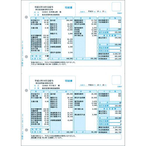 【送料無料】【法人(会社・企業)様限定】弥生 給与明細書 単票 A4タテ 1箱(500枚)