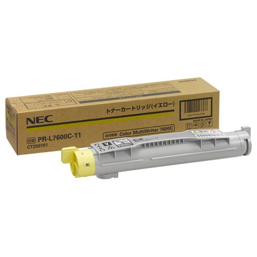 【キャッシュレス5%還元】NEC トナーカートリッジ イエロー PR-L7600C-11 1個
