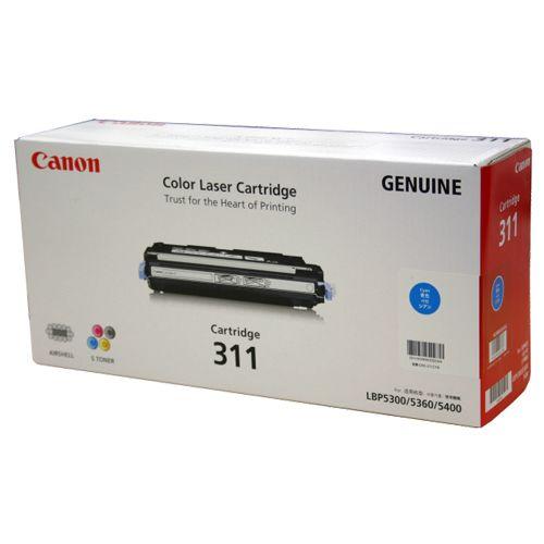 【キャッシュレス5%還元】CANON トナーカートリッジ311 CRG-311CYN シアン 1個