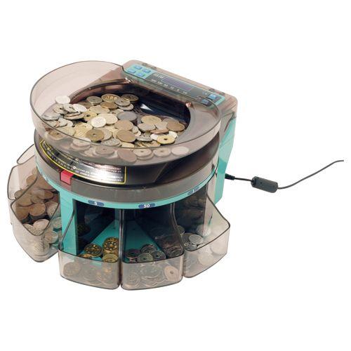 【キャッシュレス5%還元】エンゲルス 電動小型硬貨選別機 コインソーター 1台
