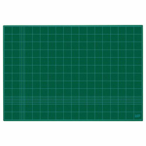 【キャッシュレス5%還元】【送料無料】【法人(会社・企業)様限定】ライオン事務器 カッティングマット 再生PVC製 両面使用 900×620×3mm グリーン 1枚