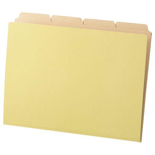 ブランド激安セール会場 日時指定 カットフォルダー4山 クラフト厚紙タイプ A4 40冊 1パック