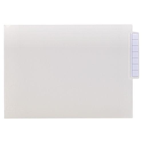 【キャッシュレス5%還元】【送料無料】【法人(会社・企業)様限定】LIHIT LAB カルテフォルダー シングルポケット A4ヨコ 見出し紙付 乳白 1箱(200枚)