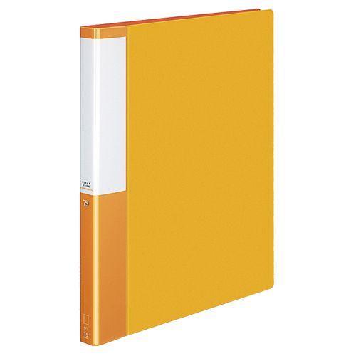 コクヨ クリヤーブック(POSITY)替紙式A4タテ30穴15ポケット付属 背幅27mm オレンジ 1セット(10冊)
