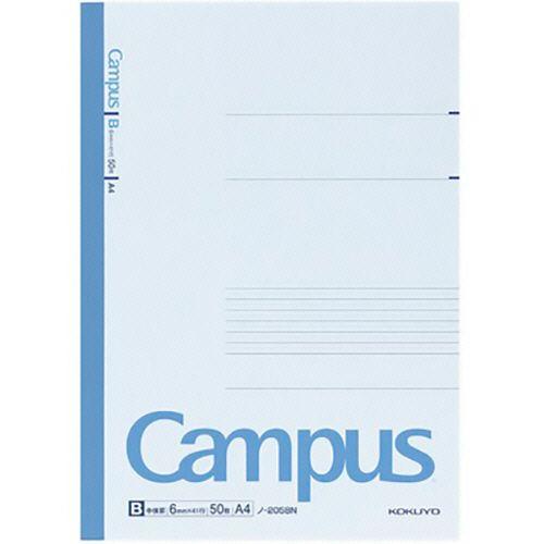 コクヨ キャンパスノート(中横罫) A4 B罫 50枚 1セット(80冊)