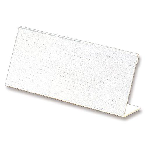 ライオン事務器 カード立 L型 数量限定アウトレット最安価格 アクリル製 1セット 超安い W200×H80mm 10個