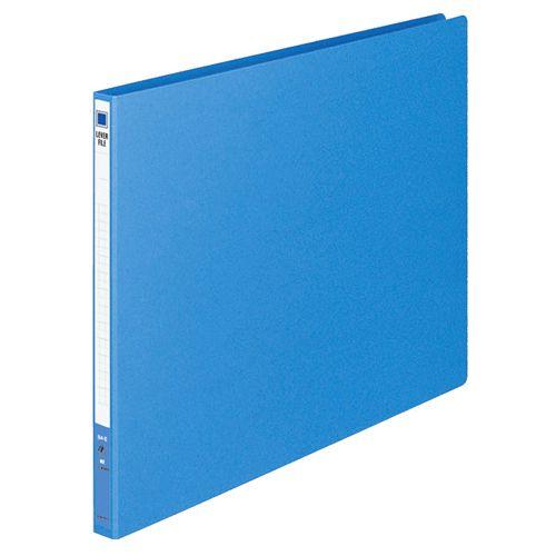 コクヨ レバーファイル(MZ) B4ヨコ 100枚収容 背幅20mm 青 1セット(30冊)