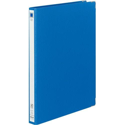 コクヨ リングファイル 色厚板紙 A4タテ 30穴 背幅30mm 青 1セット(20冊)