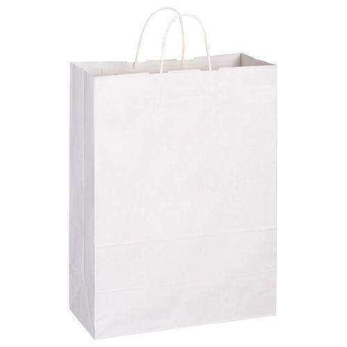 【送料無料】【法人(会社・企業)様限定】紙手提袋 丸紐 特大 ヨコ360×タテ480×マチ170mm 白 1セット(300枚:50枚×6パック)