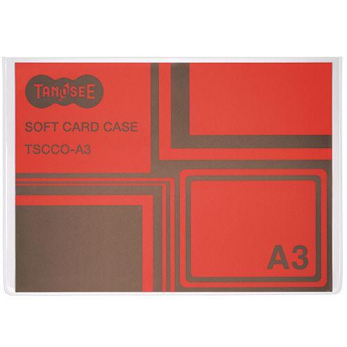 【キャッシュレス5%還元】【送料無料】【法人(会社・企業)様限定】TANOSEE ソフトカードケース A3 1セット(100枚)