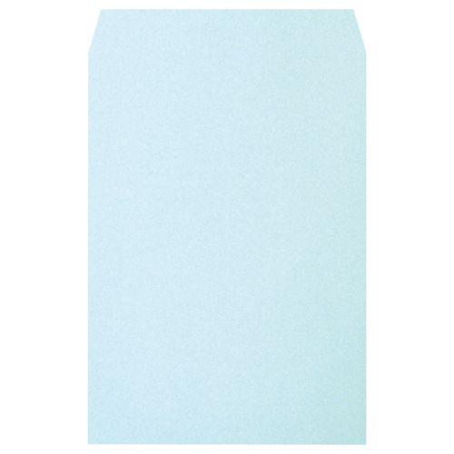 【送料無料】【法人(会社・企業)様限定】heart 透けないカラー封筒 角2 100g/m2 パステルブルー 1セット(500枚:100枚×5パック)