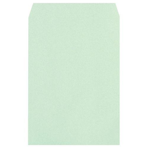 【送料無料】【法人(会社・企業)様限定】heart 透けないカラー封筒ワンタッチテープ付 角2 パステルグリーン 1セット(500枚:100枚×5パック)