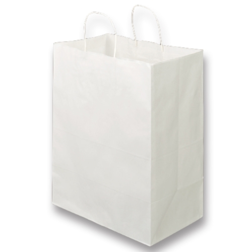 【送料無料】【法人(会社・企業)様限定】紙手提袋 丸紐 マチ広・大 350×440×マチ210mm 白 1セット(300枚:30枚×10パック)