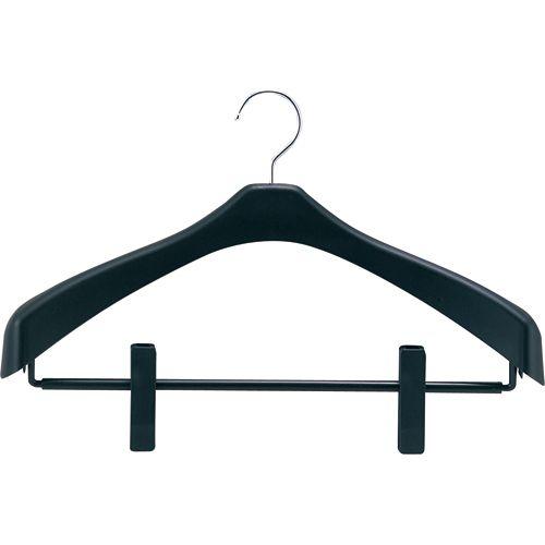 シンコハンガー リバース ジャケットハンガー クリップ 42cm ブラック 1セット(100本)