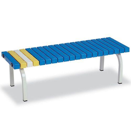 【キャッシュレス5%還元】テラモト ホームベンチ 幅1206×奥行400×高さ365mm 青 1台