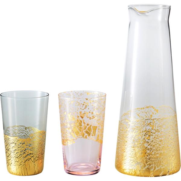 【送料無料】江戸硝子 金玻璃 酒器セット G641-H104【代引不可】【ギフト館】