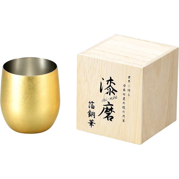 【送料無料】漆磨 箔銅華ロックカップ340ml CNS-D801【代引不可】【ギフト館】