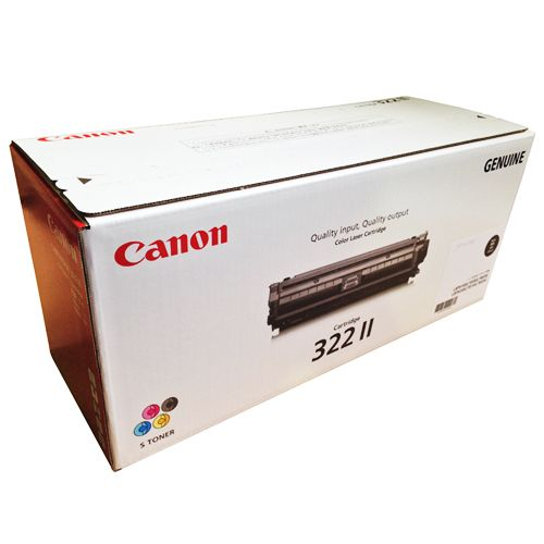 【キャッシュレス5%還元】【送料無料】【法人(会社・企業)様限定】CANON トナーカートリッジ322II 輸入純正品 ブラック 1個