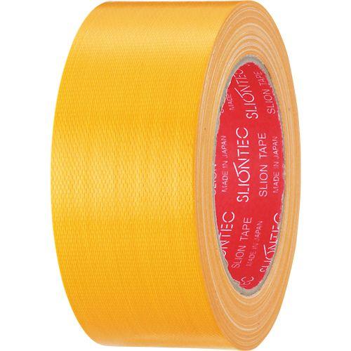 【キャッシュレス5%還元】【送料無料】【法人(会社・企業)様限定】スリオンテック カラー布テープ 50mm×25m 黄 1セット(30巻)