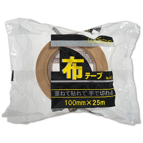 No.343720 100mm×25m 1セット(18巻) 【送料無料】【法人(会社・企業)様限定】スリオンテック 布テープ
