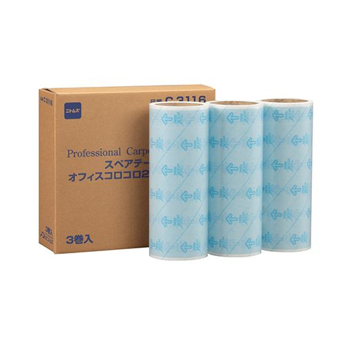 ニトムズ オフィスコロコロ フロアクリン240 スペアテープ 幅240mm×40周巻 1セット(30巻:3巻×10パック)