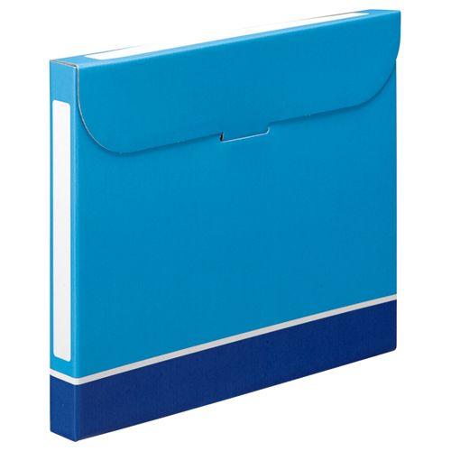 【キャッシュレス5%還元】【送料無料】【法人(会社・企業)様限定】ファイルボックス A4 背幅32mm 青 1セット(50冊:5冊×10パック)