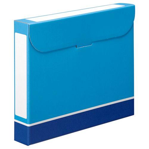 【キャッシュレス5%還元】【送料無料】【法人(会社・企業)様限定】ファイルボックス A4 背幅53mm 青 1セット(50冊:5冊×10パック)