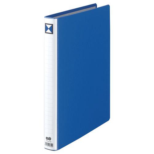 【キャッシュレス5%還元】【送料無料】【法人(会社・企業)様限定】両開きパイプ式ファイル A4タテ 200枚収容 20mmとじ 背幅36mm 青 1セット(30冊)