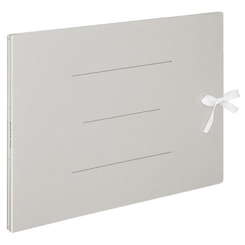 コクヨ ガバットファイル(紙製) A3ヨコ(ひも付き)1000枚収容背幅13?113mmグレー 1セット(10冊)