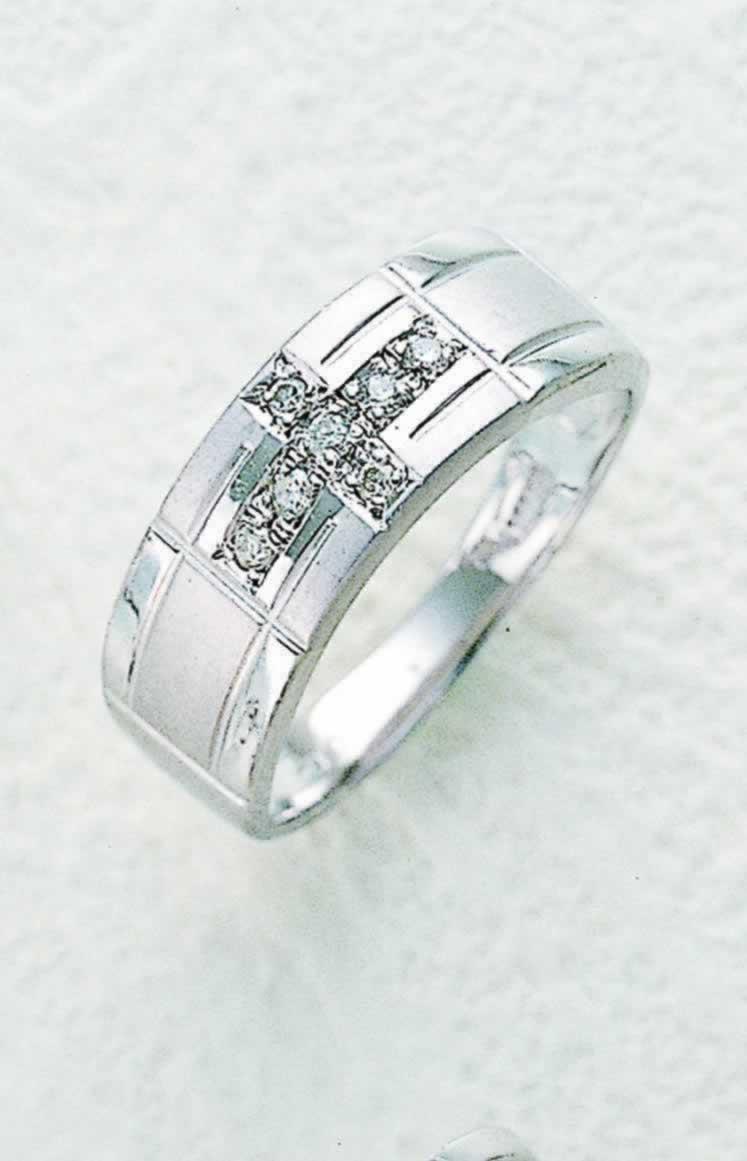 【男女兼用】ダイヤがクロスする豪華なリング!プラチナ100・0.07ctダイヤクロスリング