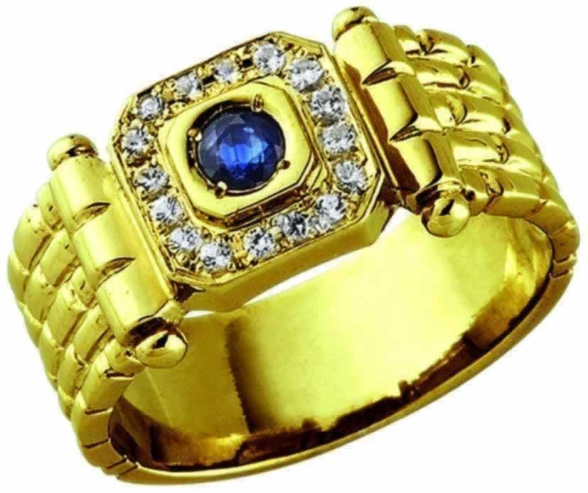ハンドメイドリング 指輪 メンズリング 豪華サファイヤリング