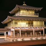 【木製建築模型】1/75 鹿苑寺金閣 ゴールド仕様
