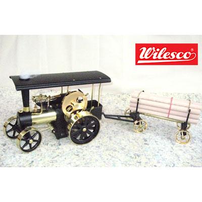 ヴィルヘルム・シュレーダー社 蒸気エンジン付き道路転圧ロ-ラ車 Model D406集材車付き
