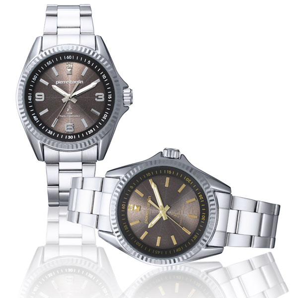 pierre cardin メンズ 電波ソーラー腕時計