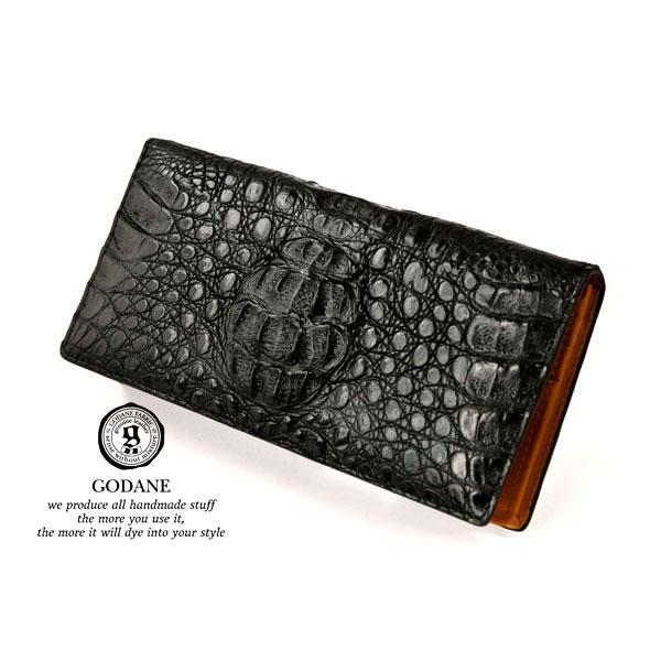 GODANEゴダン spcw8008cp/BKカイマンクロコ長財布