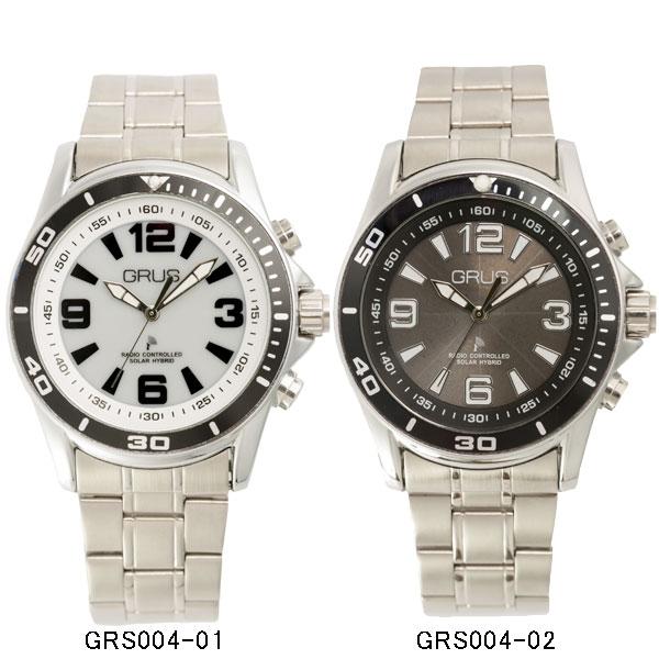 GRUS ボイス電波ソーラー腕時計