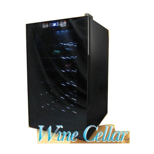 【代引き不可】ワインセラー ペルチェ方式 28本収納タイプ BCW-70