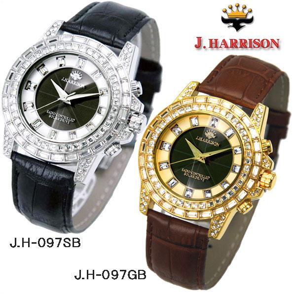 J.HARRISON(ジョンハリソン) シャニングソーラー電波時計 JH-097GB JH-097SB