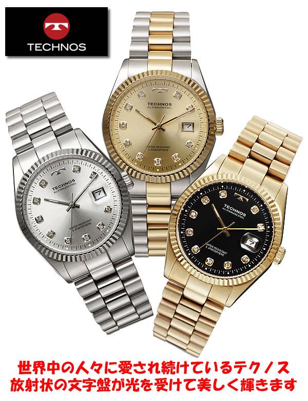 【ウォッチ 腕時計】テクノス ラウンドデイト紳士腕時計 T9402 / TECHNOS