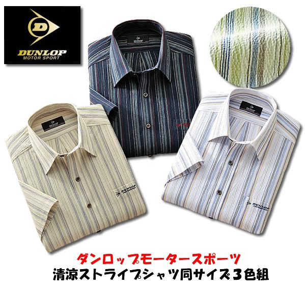 ダンロップモータースポーツ 清涼ストライプシャツ同サイズ3色組 / DUNLOP MOTORSPORT