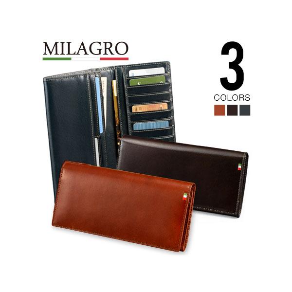 Milagro(ミラグロ) イタリア製ヌメ革 28ポケットロングウォレット CA-S-515