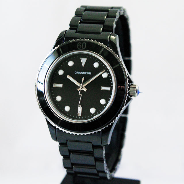 [グランドール]GRANDEUR セラミックダイバータイプ腕時計 GCC003B1