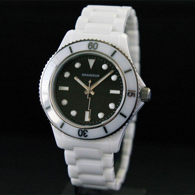 [グランドール]GRANDEUR セラミックダイバータイプ腕時計 GCC003W2