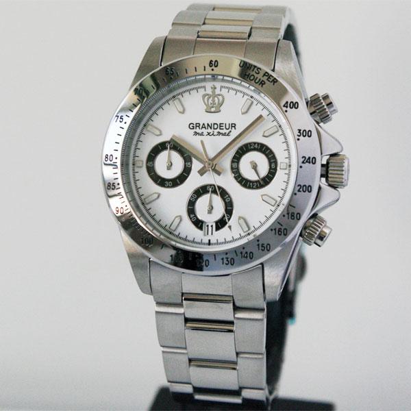 新価格[グランドール]GRANDEURクロノグラフ 腕時計 (JGR004W1)