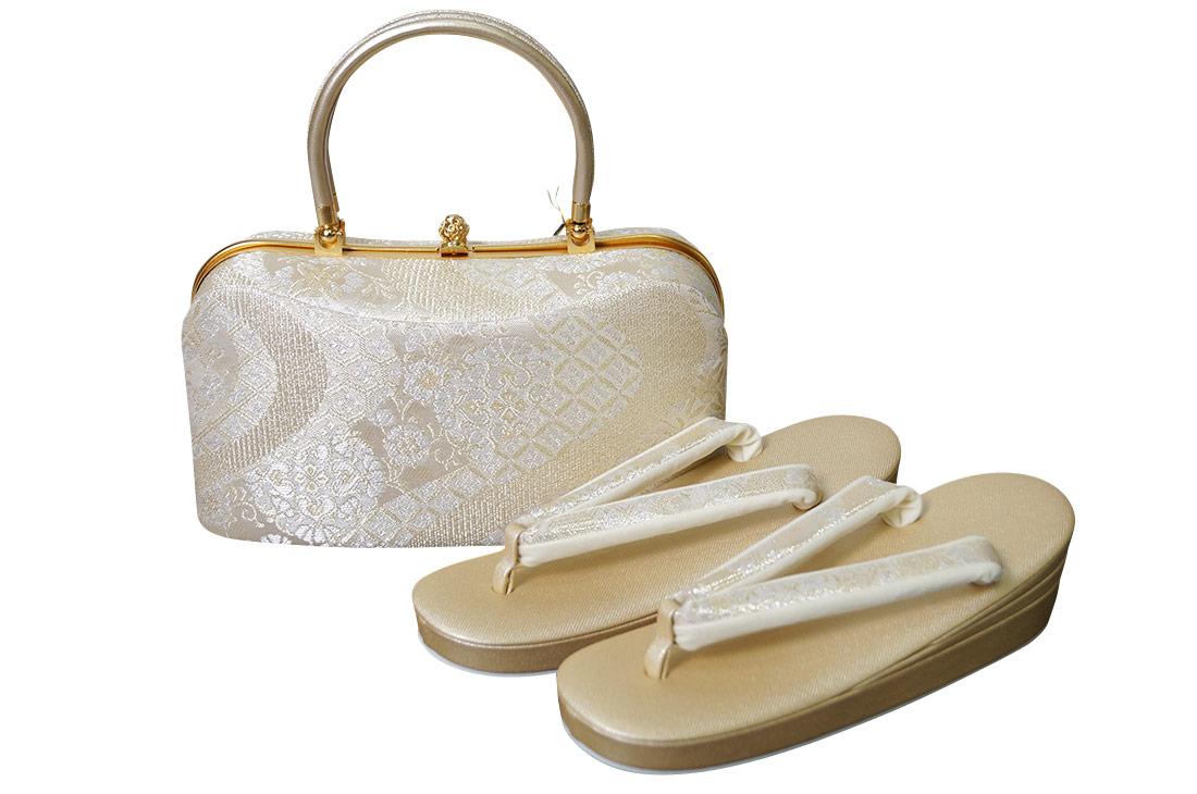 和装 沙織 草履バッグ セット 西陣織り帯地 礼装用 SA-9012 大幅値下げSALE