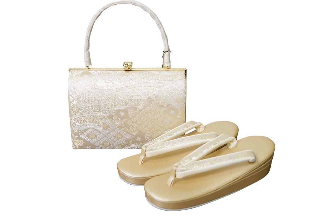 和装 沙織 草履バッグ セット 西陣織り帯地 礼装用 SA-9026 大幅値下げSALE